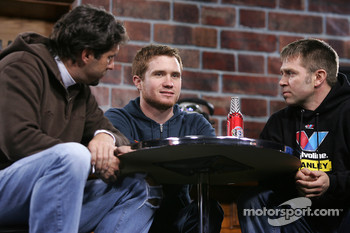 Elliott Sadler, Brian Vickers and Scott Riggs