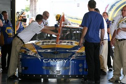 The backup NAPA Toyota of Michael Waltrip at tech inspection