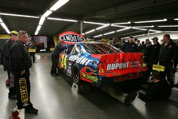 The #24 Dupont Chevy of Jeff Gordon fails technical inspection