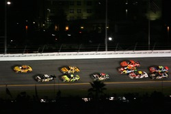 Kevin Harvick takes the lead over Mark Martin in turn 4