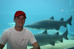 Jonathan Summerton at the Ushaka Marine World Shark tank