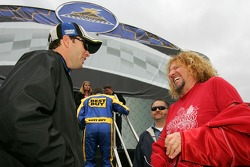 Jimmie Johnson and Sammy Hagar
