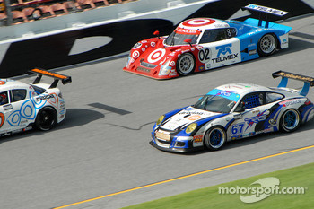 #67 TRG Porsche GT3 Cup: Tom Cloet, Pierre Bourque, Mike Solley, Auston Harris, #02 Target Chip Ganassi with Felix Sabates Lexus Riley: Scott Dixon, Dan Wheldon, Memo Rojas