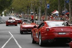 Ferrari's drive down Lygon Street