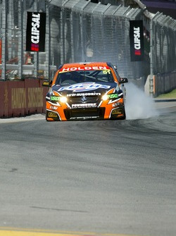 Greg Murphy locks a brake