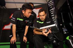 Kawasaki Racing team members at work