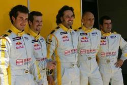 Michel Jourdain, SEAT Sport, SEAT Leon, Tiago Monteiro, SEAT Sport, SEAT Leon, Yvan Muller, SEAT Sport, Seat Leon, Gabriele Tarquini, SEAT Sport, SEAT Leon and Jordi Gene, SEAT Sport, SEAT Leon