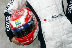 Kazuki Nakajima, Test Driver, Williams F1 Team, helmet