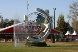 A monument at the circuit