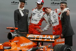 Adrian Sutil, Spyker F1 Team, Christijan Albers, Spyker F1 Team, Spyker F1 Team, Announce new title sponsor, Etihad Airways
