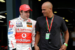 Fernando Alonso, McLaren Mercedes and Kelly Slater, Professional Surfer
