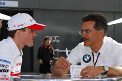 Ralf Schumacher and Mario Theissen, BMW Sauber F1 Team, BMW Motorsport Director