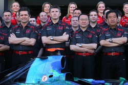 Honda F1 Team photoshoot, front row, l-r, Gil de Ferran, Honda Racing F1 Team, Sporting Director, Nick Fry, Honda Racing F1 Team, Chief Executive Officer, Yashurio Wada, Honda Racing Development Ltd, President