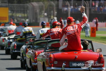 Drivers parade, Kimi Raikkonen, Scuderia Ferrari