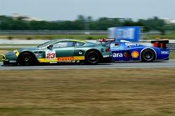#23 Aston Martin Racing BMS Aston Martin DBR9: Fabio Babini, Jamie Davies, #11 Scuderia Playteam Sarafree Maserati MC 12 GT1: Andrea Bertolini, Andrea Piccini