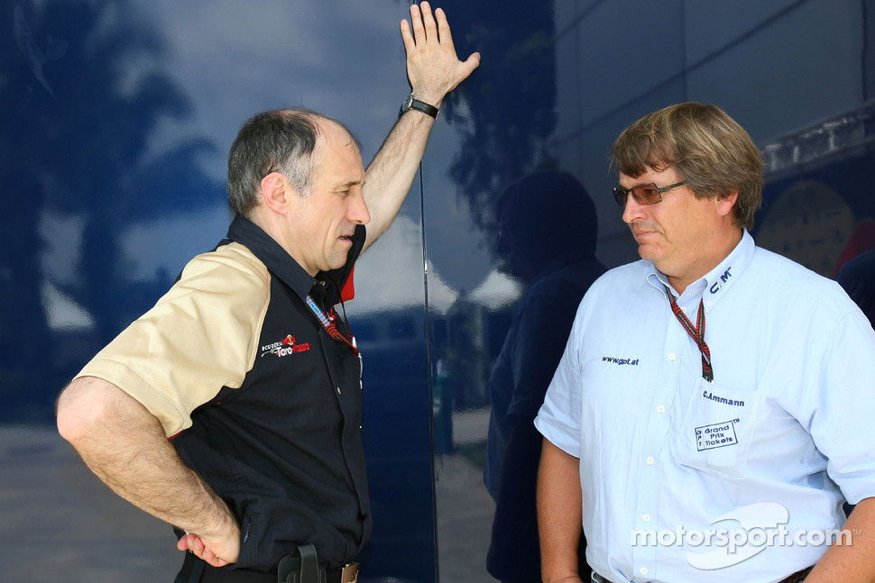 Team principal Franz Tost and Christoph Ammann