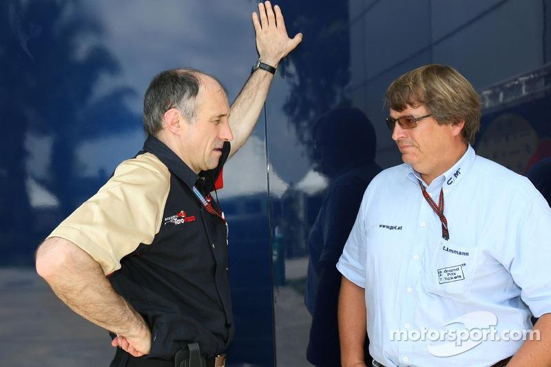 Team principal Franz Tost and Christoph Ammann