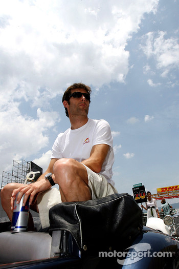 Mark Webber at the drivers parade