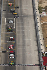 Will Power leads on a restart