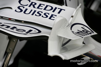 BMW-Sauber F1 Team, front wing end-plate detail