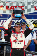 Pole winner David Ragan celebrates