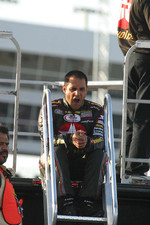 Juan Pablo Montoya waits to qualify