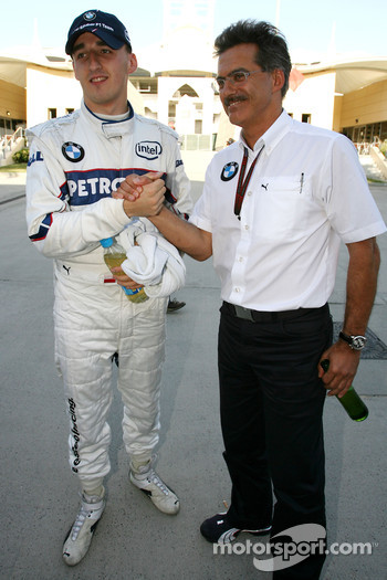 Robert Kubica,  BMW Sauber F1 Team, Dr. Mario Theissen, BMW Sauber F1 Team, BMW Motorsport Director