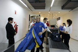 Petter Solberg at the airport