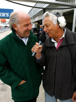 Bob Constanduros, Commentator and Journalist, with David Richards, CEO Prodrive