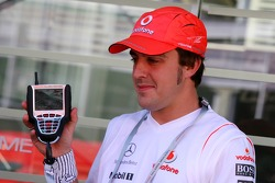 Fernando Alonso, McLaren Mercedes and a McLaren Mercedes branded Kangaroo TV
