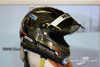 Nick Heidfeld, BMW Sauber F1 Team, helmet for the Spanish Grand Prix