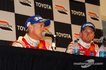 P1 podium press conference: winners Dindo Capello and Allan McNish