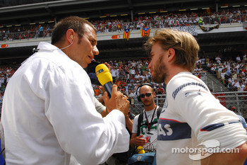 Kai Ebel, RTL Television and Nick Heidfeld, BMW Sauber F1 Team