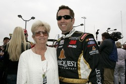 Greg Biffle poses for a photo with his mom, Sally Biffle