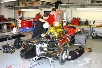 SAMAX Motorsport crew members at work