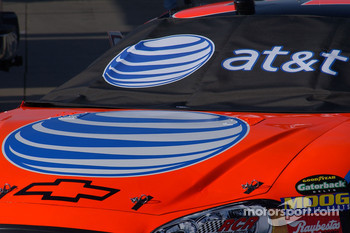 Jeff Burton's car carries the new AT&T logos