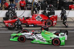 Graham Rahal, Rahal Letterman Lanigan Racing and Sebastien Bourdais, KVSH Racing