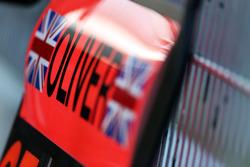 Pit board for Oliver Turvey, McLaren Test Driver