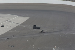 Debris after Josef Newgarden's crash