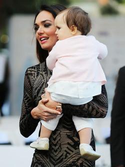 Tamara Ecclestone, with her daughter Sophia Eccelstone-Rutland, at the Amber Lounge Fashion Show
