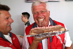 Arno Zensen with his birthday cake