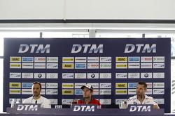 Gary Paffett, ART Grand Prix Mercedes-AMG C63 DTM, Mike Rockenfeller, Audi Sport Team Phoenix Audi RS 5 DTM, Martin Tomczyk, BMW Team Schnitzer BMW M4 DTM
