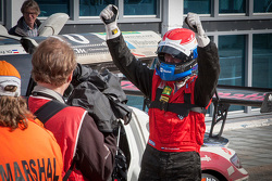 Race winner Christiaan Frankenhout celebrates