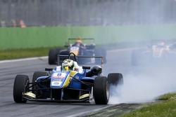 Alessio Lorandi, Van Amersfoort Racing Dallara Volkswagen with a locked wheel