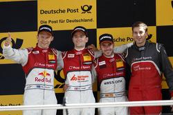 Podium: 2nd Mattias Ekström, Audi Sport Team Abt Sportsline, Audi A5 DTM, 1st Jamie Green, Audi Sport Team Rosberg Audi RS 5 DTM, 3rd Miguel Molina, Audi Sport Team Abt Audi RS 5 DTM
