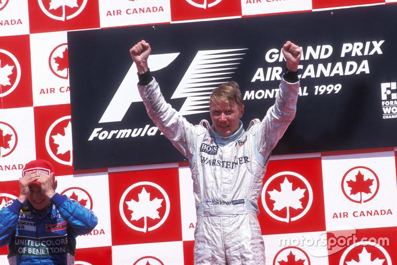 Podium: 1. Mika Häkkinen, McLaren; 2. Giancarlo Fisichella, Benetton