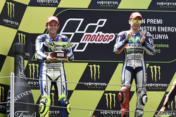 Second place Valentino Rossi and winner Jorge Lorenzo, Yamaha Factory Racing