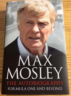 Cover van Max Mosley's nieuwe autobiografie