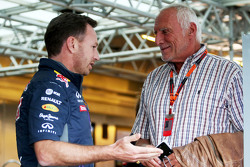 Christian Horner, Red Bull Racing teambaas en Dietrich Mateschitz, CEO Red Bull