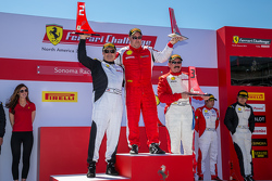 Podium: Race winner #105 Miller Motorcars Ferrari 458: Rodney Randall, second place #177 Miller Motor Cars Ferrari 458: Joe Courtney, third place #161 Boardwalk Ferrari 458: Jean-Claude Saada